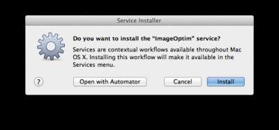Automator - Automatische installatie van de workflow