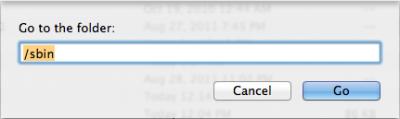 """Finder - Voer het pad in en klik op """"Go"""""""