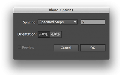 Illustrator Blend Opties