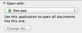 MacOS X - Open TBN altijd met Xee