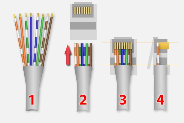 Normale netwerk kabel