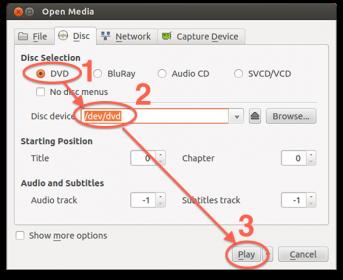 VLC Linux (Ubuntu) - Start Weergave