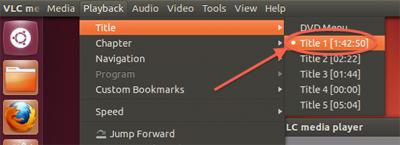 VLC Linux (Ubuntu) -Welke Title zijn we aan het bekijken?