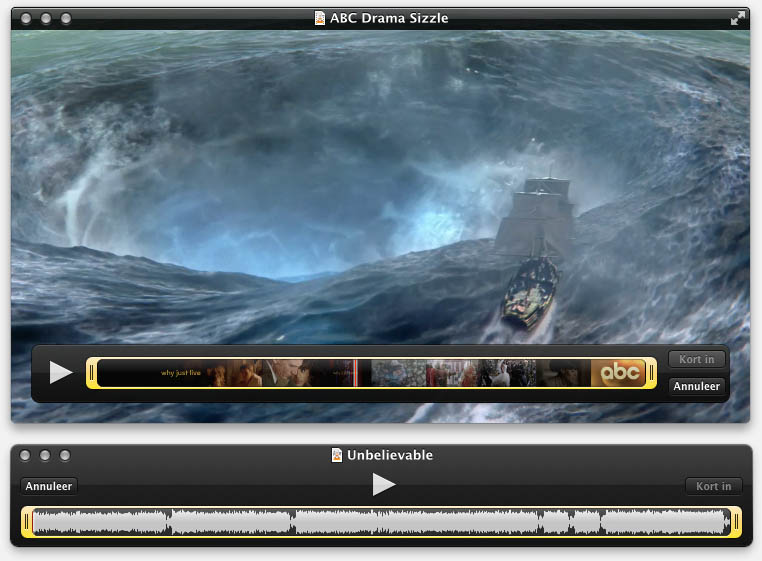 QuickTime - Audio en Video inkorten