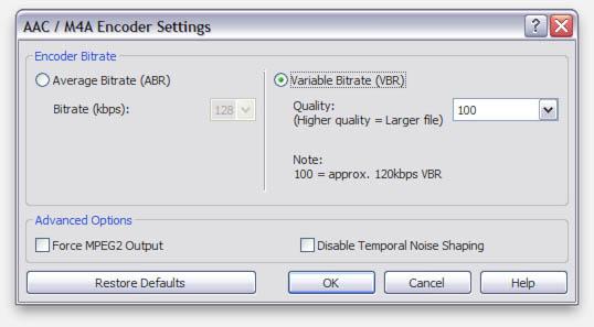 WavePad - Audio formaat instellingen