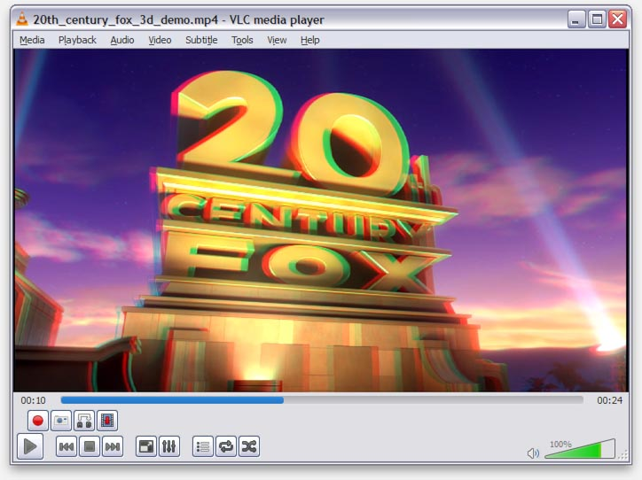 D Video Player For Cinema Glasses