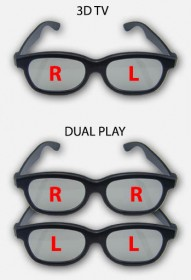 Dual Play versus 3D TV brilletjes