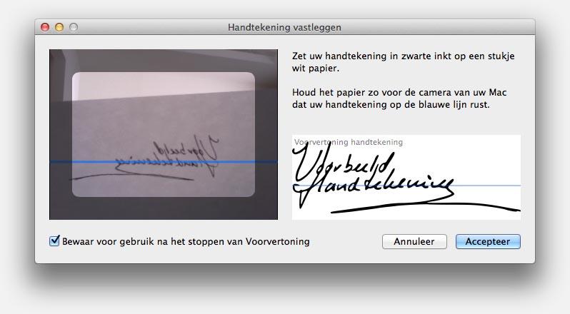 handtekening maken in word mac