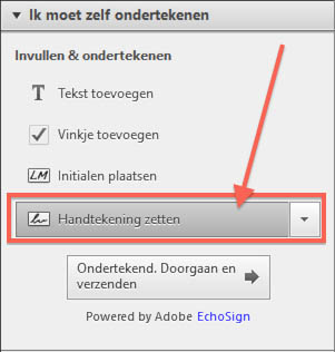 Windows - Adobe Acrobat Reader - Handtekening Plaatsen