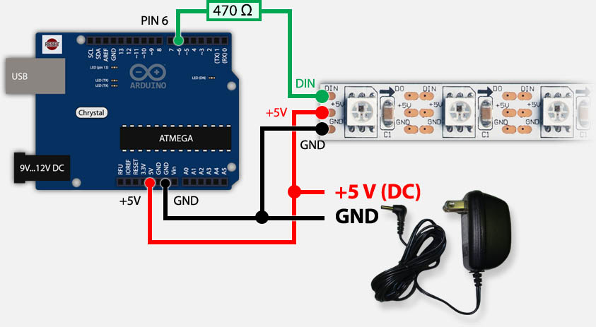 Tweaking4all Nl Arduino Ws2812 Led Strip Besturen Met