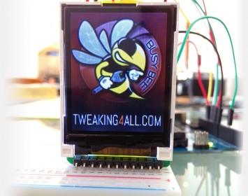 Voorbeeld BMP weergave op het SainSmart Display met de Arduino