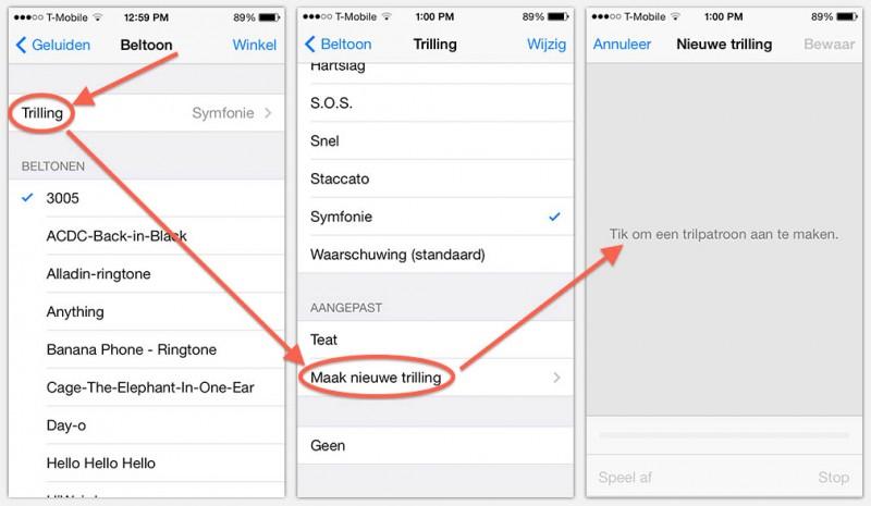 iPhone - Maak jouw eigen Vibreer Patroon