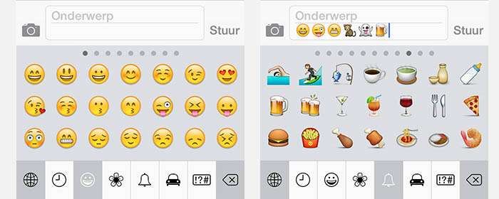 iPad/iPhone - Intypen van Emoji Emoticons/Smileys