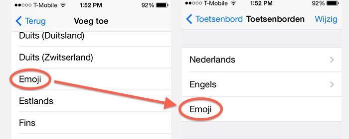 iPad/iPhone - Emoji (Emoticons/Smileys) toetsenbord toevoegen