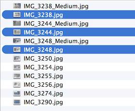 Voorbeeld bestanden na verkleining