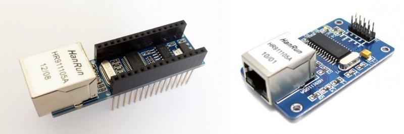 Arduino ENC28J60 shield varianten