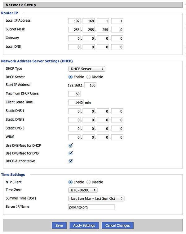 NetGear R7000 - DD-WRT - LAN instellingen