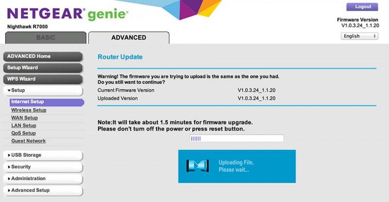NetGear R7000 - Uploaden van de DD-WRT firmware