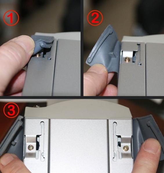 Nikon Coolscan - Rubberen voetjes openen