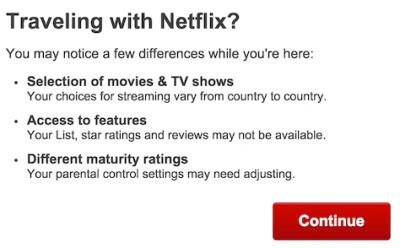 Netflix laat weten dat de aangeboden content anders gaat zijn