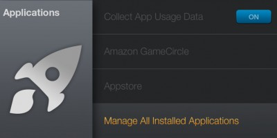 Amazon Fire TV - Manage All Applications
