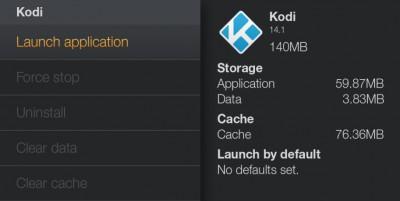 Amazon Fire TV - Start Kodi