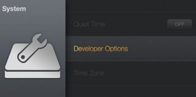 Amazon Fire TV - System - Developer Options