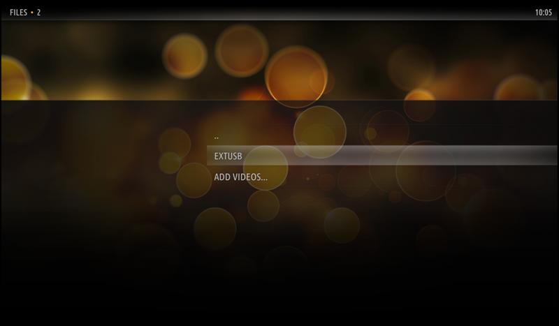 "Onder Kodi heet de USB drive ""EXTUSB"""