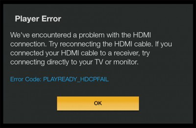 Amazon Fire TV geeft HDCP error