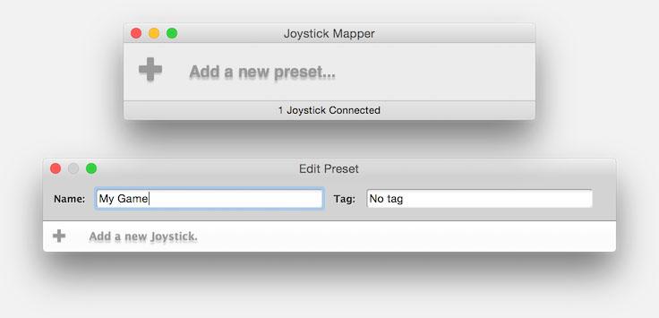 Joystick Mapper - Nieuwe Preset aanmaken