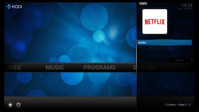 Netflix App in Kodi Favorieten
