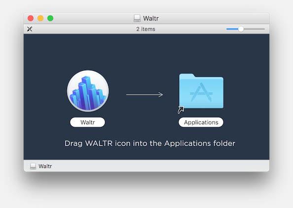 WALTR - Open de DMG voor installatie