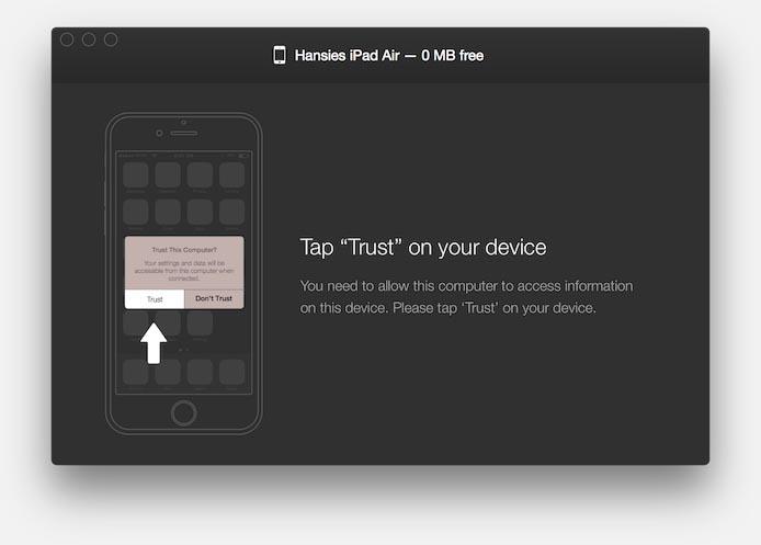 """WALTR wil graag dat je de """"Trust"""" knop aan tikt"""