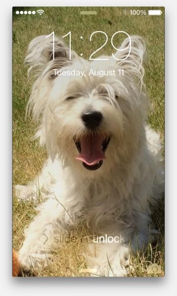 iPhone lock scherm met verkeerde tijd