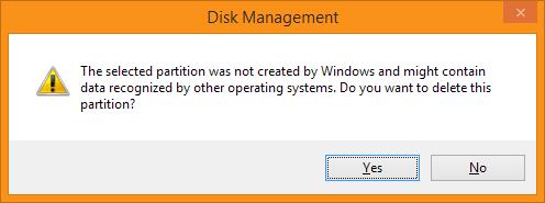 Disk Management - Weet je het zeker?