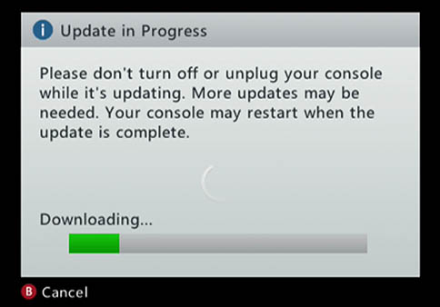 XBox 360 - Update om DRM te her-activeren?