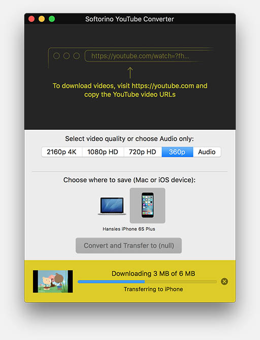 YouTube Converter - Video meteen overzetten naar een iOS device