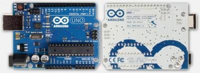 Arduino Uno R3 - Voorkant en achterkant
