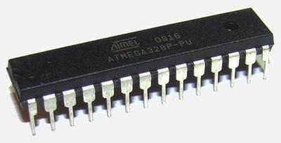 Voorbeeld van een Atmel AVR chip