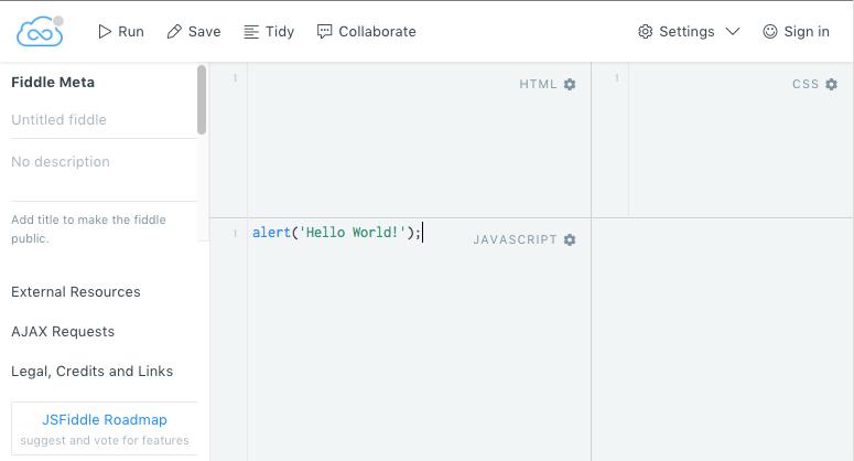 JSFiddle - Geweldig hulpmiddel om online JavaScript te testen