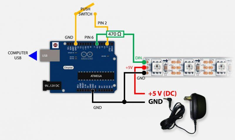 Arduino Hardware opstelling