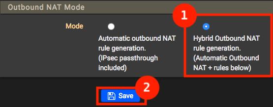 pfSense - Uitgaande NAT op Hybride zetten