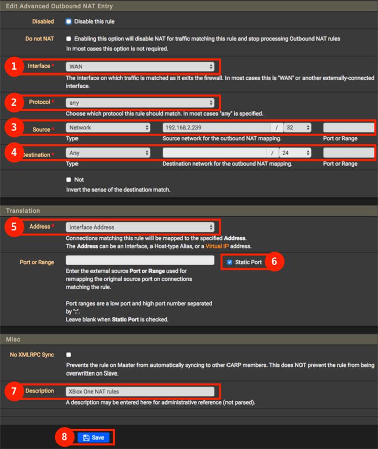 pfSense - Outbound regel toevoegen voor XBox One