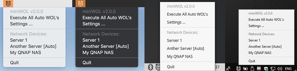 miniWOL2 - MacOS (licht/donker), Linux en Windows