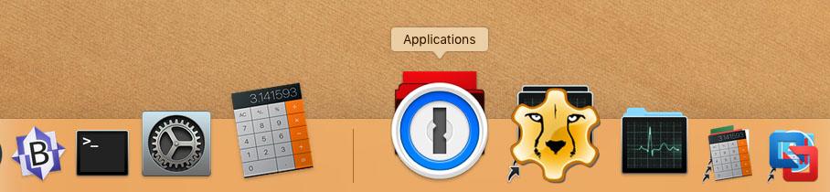MacOS - Stack Overlay voorbeeld Dock