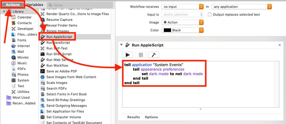 "ToggleTheme - Automator ""Run AppleScript"""