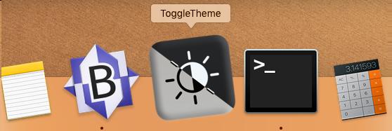 ToggleTheme- Snelkoppeling in de MacOS Dock
