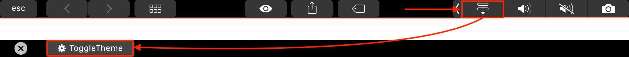 Touch Bar - Je moet 2x op een knop drukken