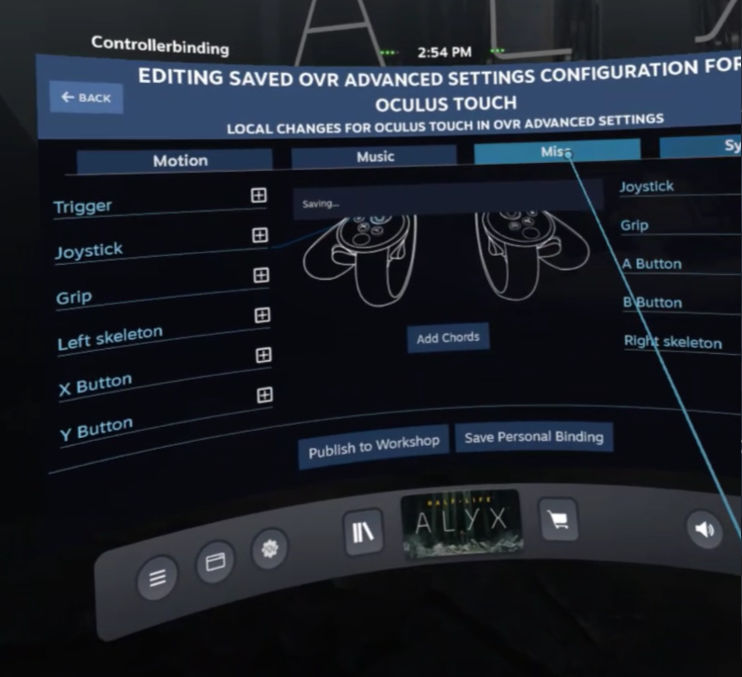 OpenVR AdvancedSetting - Misc Tab