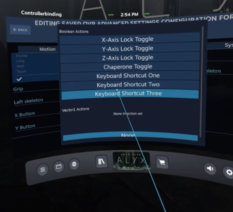 OpenVR AdvancedSetting - Keyboard Shortcut Three toewijzen voor onze Screenshot toets